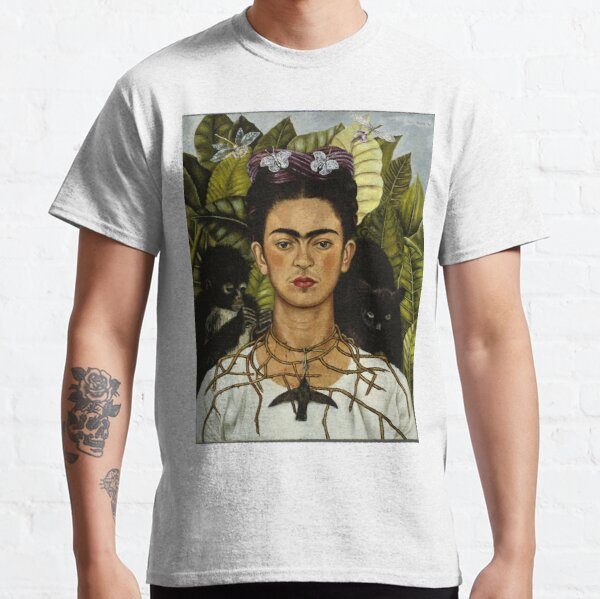 Frida Kahlo's self portrait with monkey and cat Classic T-Shirt