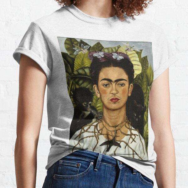 Frida Kahlo Selbstporträt mit Affe und Katze Classic T-Shirt