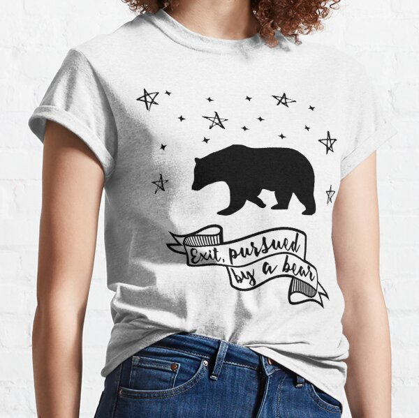 'Exit, pursued by a bear' - A Winter's Tale Shakespeare quote Classic T-Shirt