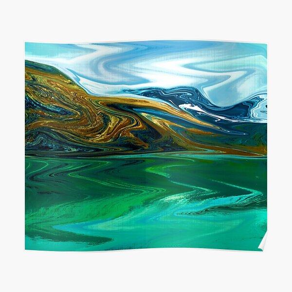 Abstract landscape Glacier Bay, Alaska wall hanging  Poster