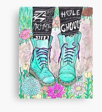 Punk Boots Canvas Print