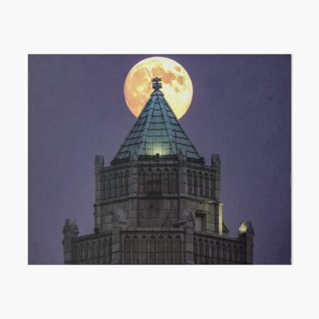 The Castle and The Moon Art Board Print