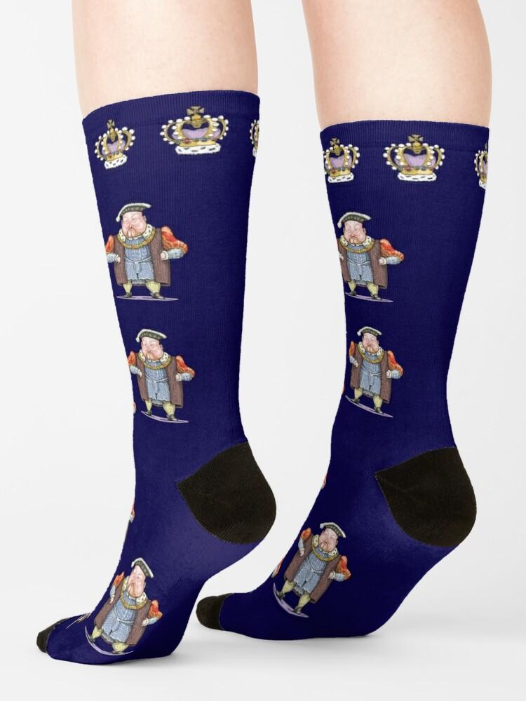 Alternate view of Henry VIII Socks