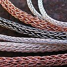 handwoven chain for jewellery by betty porteus