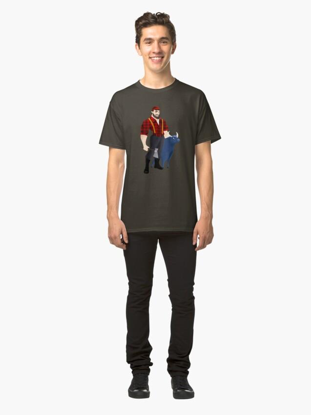 T-shirt classique ''Paul Bunyan': autre vue