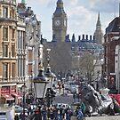 Trafalgar Square Towards Westminster, London by Nick  Gill