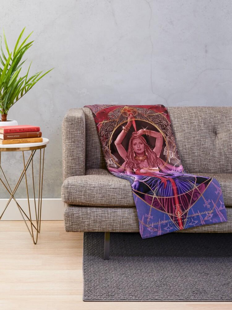 Alternate view of Queen of Slayers Throw Blanket