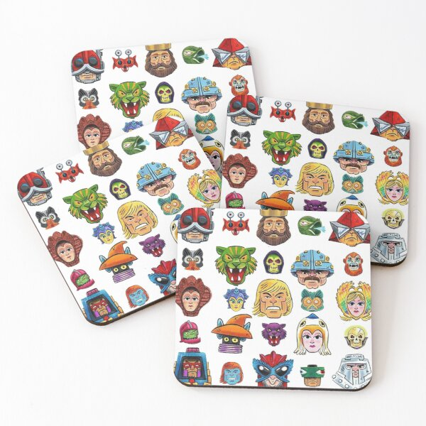 Faces of He-Man and the Masters of the Universe Coasters (Set of 4)