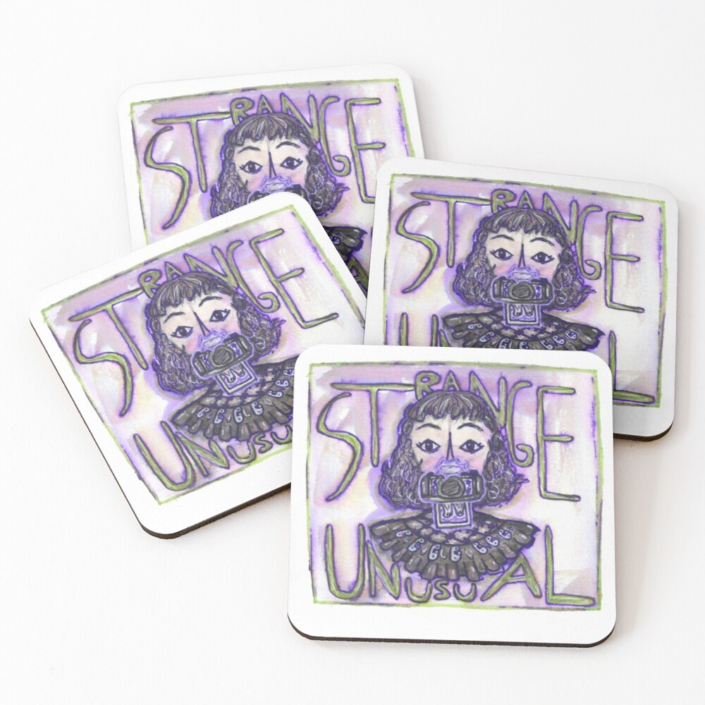 Beetlejuice The Musical Lydia Quote Strange And Unusual Coasters Set Of 4 By Playton333 Redbubble