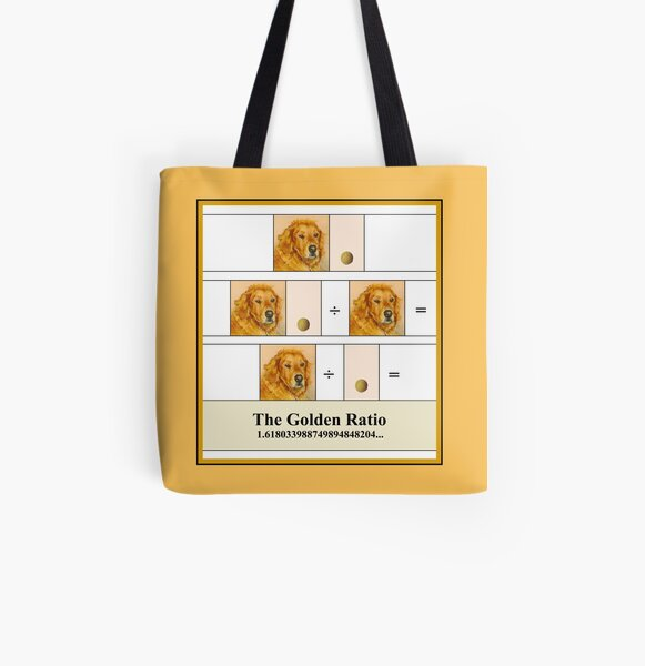 Golden Math All Over Print Tote Bag