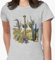 Giant Saguaros of the Sonoran Desert Women's Fitted T-Shirt