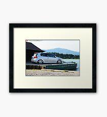 VW MKV Gti on Bentley's Framed Print
