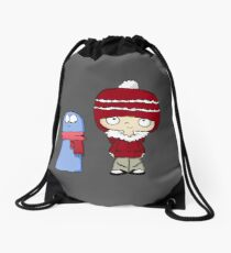 Bundled Up Bloo and Mac - Foster's Home for Imaginary Friends Drawstring Bag