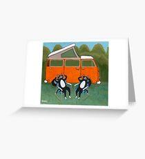 Camping Cats Greeting Card