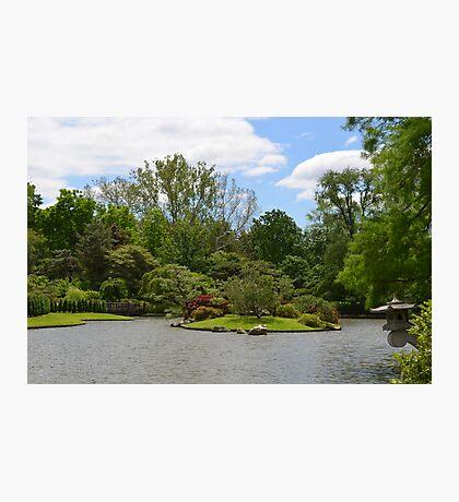 Japanese Garden View Photographic Print