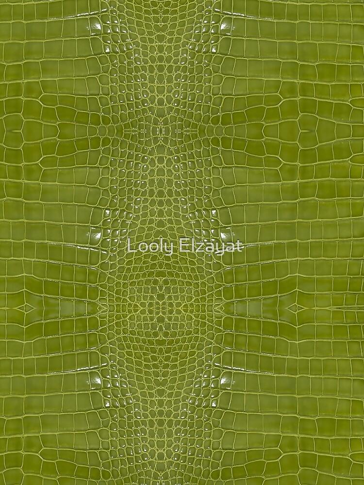 Lime Green Alligator Skin by pharostores