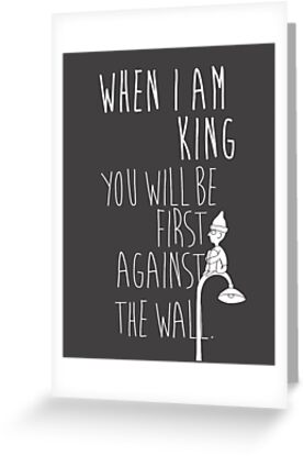 """""""When I am King, you will be first against the wall."""" Radiohead - Light by WitchDesign"""
