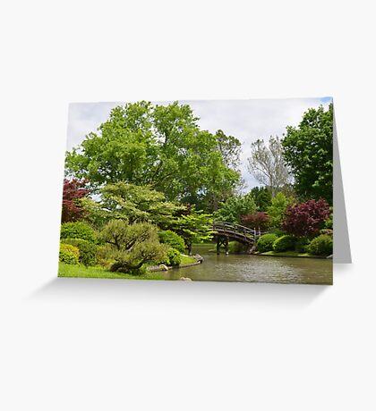 Japanese Inspired Garden Greeting Card