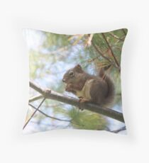 Our squirrels are meaner than your squirrels Throw Pillow