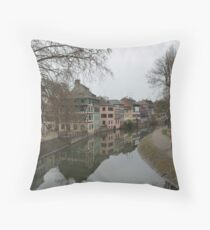 Strasbourg Canal Throw Pillow