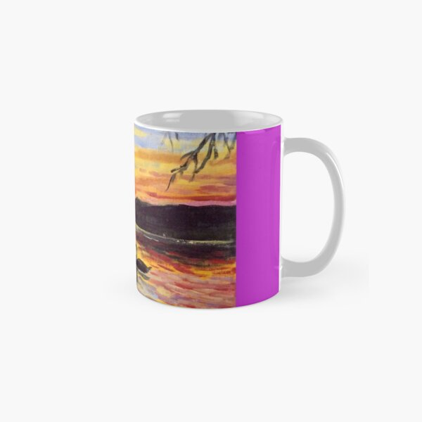 The swan at sunset by American Artist Hilary J. England Classic Mug