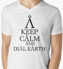 Stargate SG1 - Keep Calm and Dial Earth Mens V-Neck T-Shirt