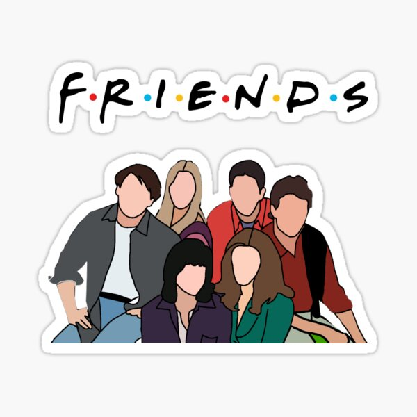 2 stickers friends Sticker