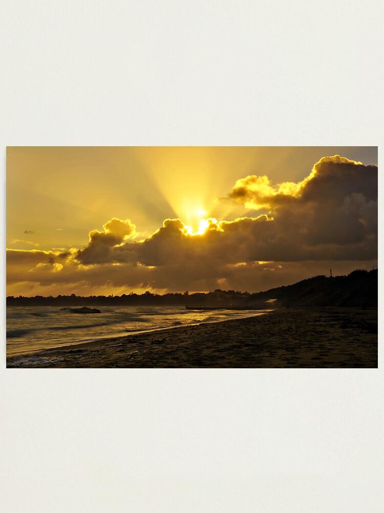 Alternate view of Winter Sunset Photographic Print