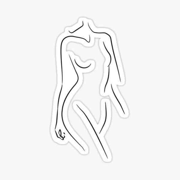 silhouette de femme Sticker