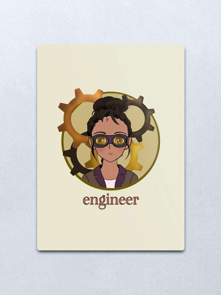 Alternate view of Engineer Metal Print