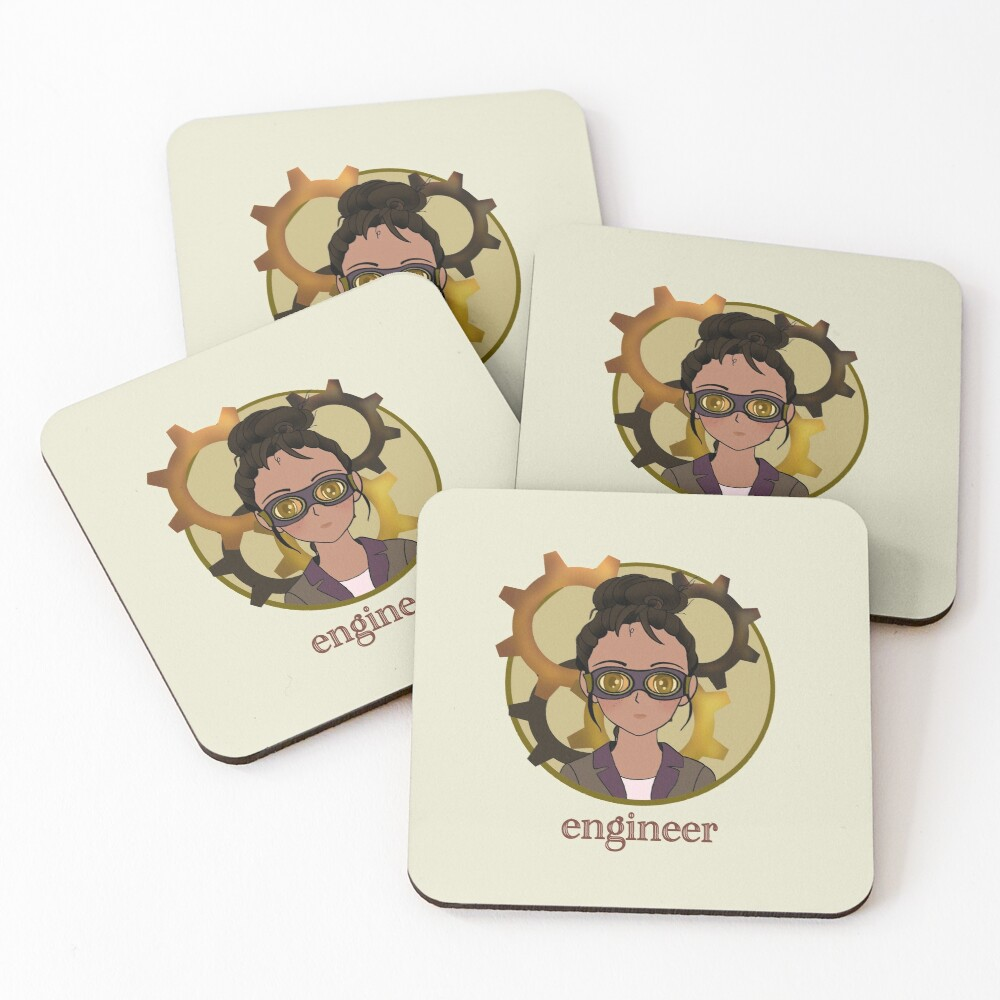 Engineer Coasters (Set of 4)
