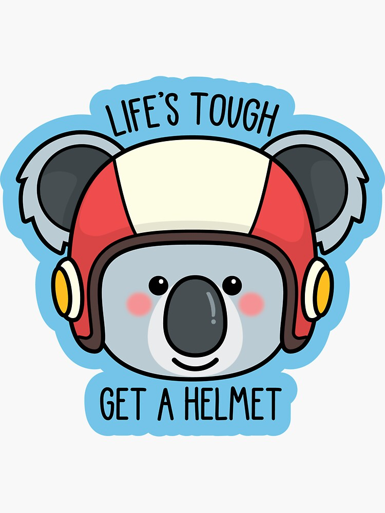 Koala with Helmet/Message -- More animals available in my shop! --  by RobbieAmrein