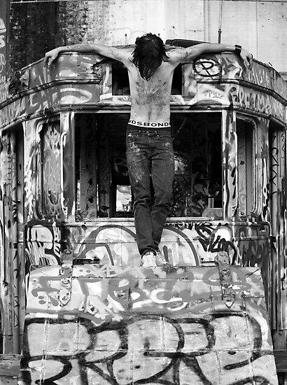 urban crucifixion by bodymechanic