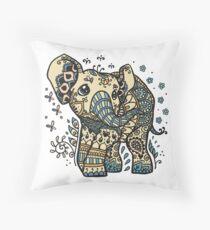 Mandala elephant Throw Pillow