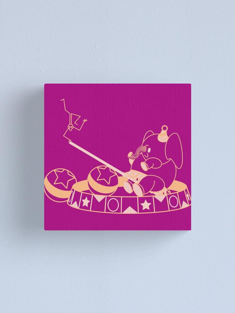 Alternate view of Elephant & Monkey Friends Canvas Print