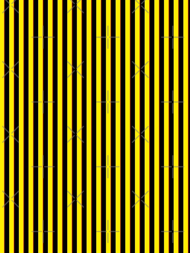 Vertical Stripes Yellow Black and Red by Sookiesooker
