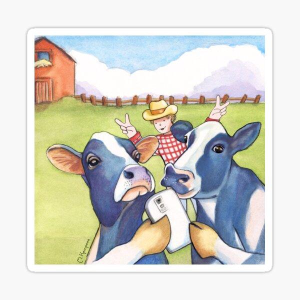 Cow Selfie Sticker
