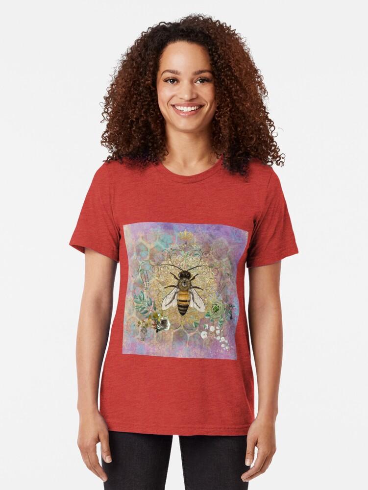 Alternate view of Queen Honey Bee Tri-blend T-Shirt
