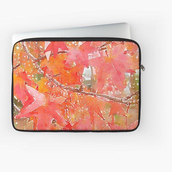 Liquidambar Leaves in Autumn Laptop Sleeve