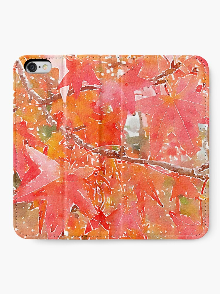 Alternate view of Liquidambar Leaves in Autumn iPhone Wallet