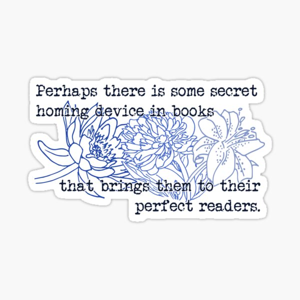 The Homing Device in Books Sticker
