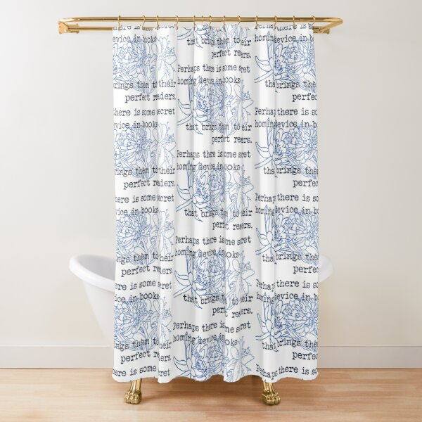 The Homing Device in Books Shower Curtain