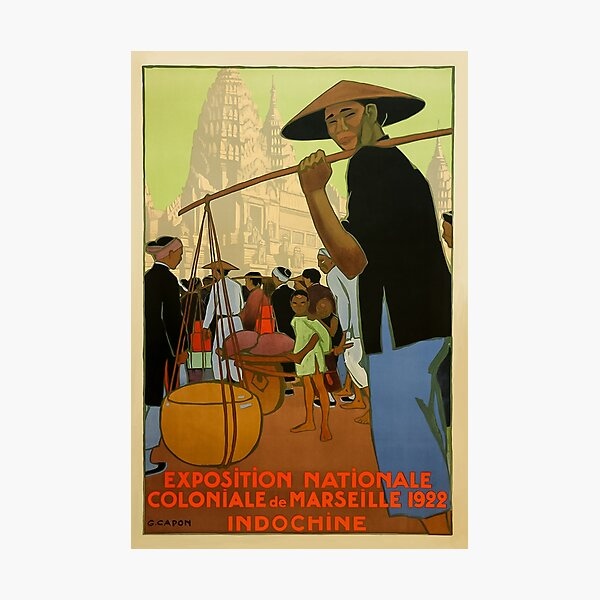 Cambodian Travel Poster,  Photographic Print