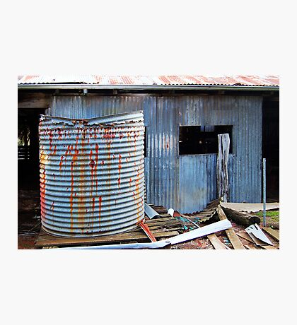Rusty Water Tank # 1  Photographic Print