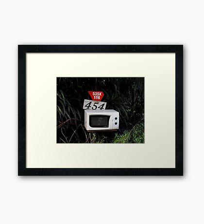 Microwave Mailbox Framed Print