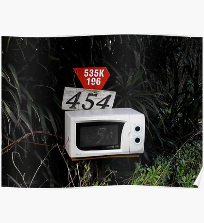 Microwave Mailbox Poster
