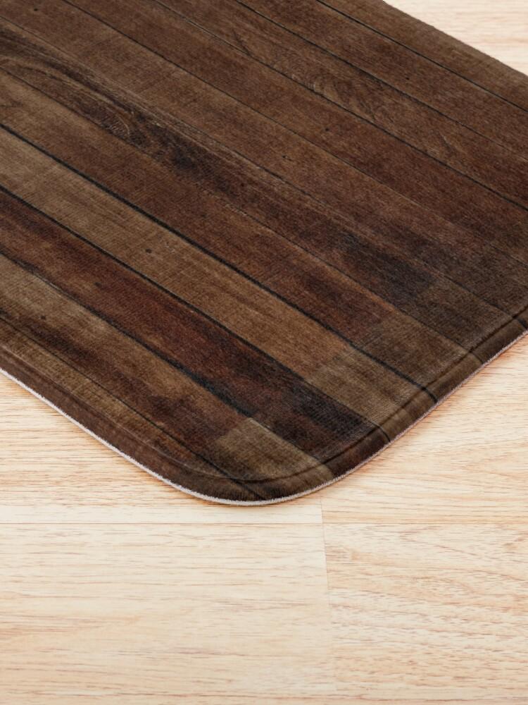 Alternate view of Dark Wood  Bath Mat