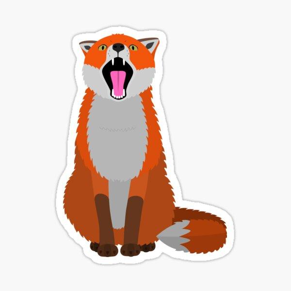 Screaming Fox Sticker