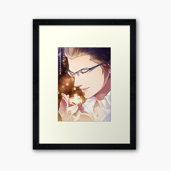 Ignis with a candle Framed Art Print