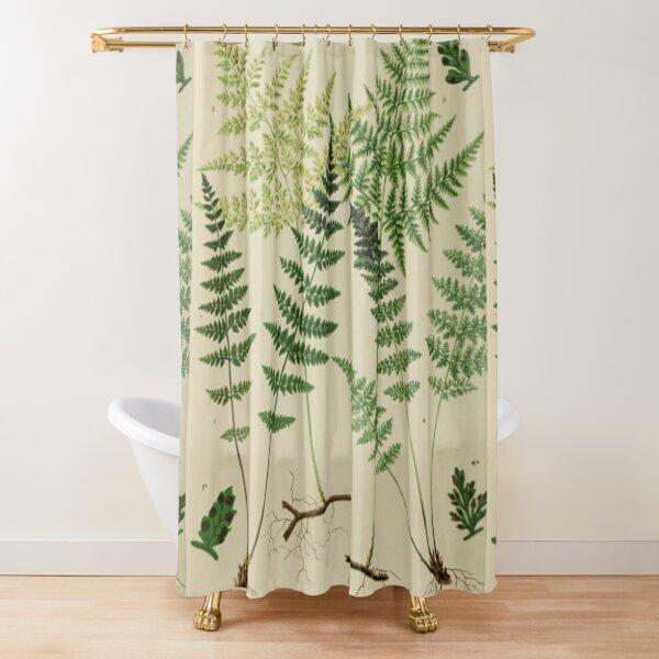 Botanical Ferns Shower Curtain